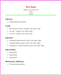 exle of simple resume format free simple resume format exle basic templates