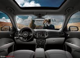 2017 jeep grand cherokee dashboard 2017 jeep compass revealed in brazil team bhp