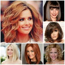 red long bob hairstyle