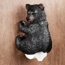 Animal Toilet Paper Holder Stinkin Bear Wall Mounted Toilet Paper Holder