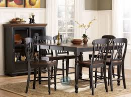 black counter height dining room sets