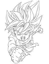 coloring pages dragon ball goku dzrleather