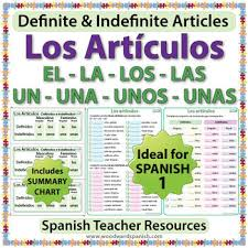 spanish 1 worksheets definite and indefinite articles in spanish