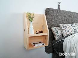 diy floating nightstand tutorial bob vila
