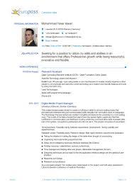 Curriculum Vitae Medical Doctor Europass Cv 20150114 Idwan En