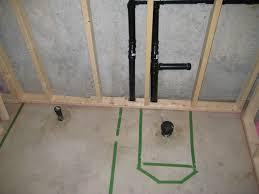 rough in bathroom plumbing marvelous on floor with basement toilet