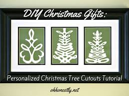 diy christmas gifts personalized christmas tree cutouts tutorial