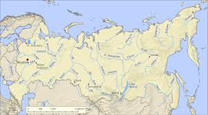Russia Map Image Large Russia by List Of Rivers Of Russia Wikipedia