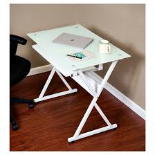 Desk With Pull Out Table Onespace 50 Jn1201 Ultramodern Glass Computer Desk With Pull Out