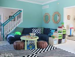 leafy green and navy playroom project nursery