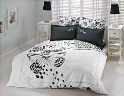 Small White Bedside Table Bedroom Elegant Black And White Bedroom With Cool Bed And White