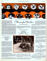 a vintage halloween party menu from 1931
