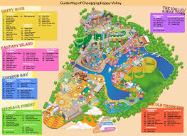 Map Performance Chongqing Happy Valley Theme Park Wing Coaster Performance Map