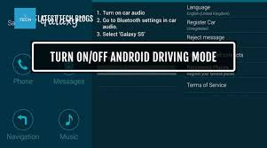 bluetooth settings android how to turn on android driving mode settings tech blogs