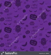 halloween background with purple halloween ghost bat pumpkin seamless pattern background purple