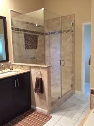 newly remodeled stand up shower with beautiful tile work