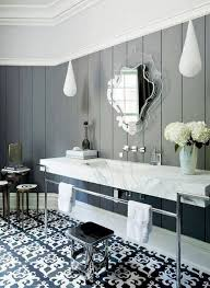 black and white style bathroom floor tile flooring