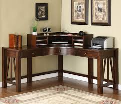 Wood Corner Desk With Hutch Place A Corner Desk With Hutch And A Wing In A Room