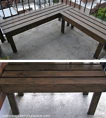 Make Your Own Picnic Table Bench by Best 25 Diy Wood Bench Ideas On Pinterest Diy Bench Benches