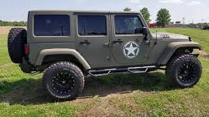 ford military jeep 2016 jeep wrangler unlimited with kevlar spray army edition lifted