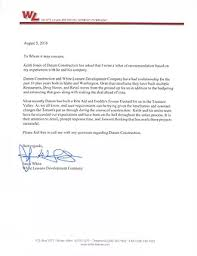 letters of recommendation idaho commercial general contractor