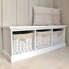 Storage Bench With Drawers Sausalito Bench With Baskets Hazelnut Beach Style Accent And