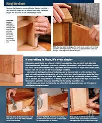 Pin Hinges For Cabinet Doors How To Install Knife Hinges Woodarchivist
