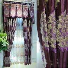 Thick Purple Curtains Thick Chenille Fabric Luxury Jacquard Insulated And Privacy Purple