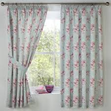 Duck Egg Blue Floral Curtains Ready Made Curtains Buy Online Tonys Textiles