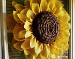 burlap sunflower wreath if you are a fan of my yellow sunflower and you country