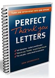 thank you letter for after a job interview