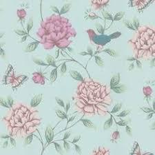 Shabby Chic Wallpapers by Shabby Chic Eau De Nil Song Bird Wallpaper Http Www Aldiss