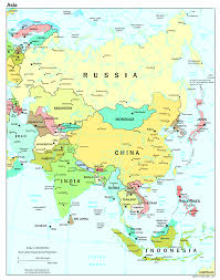 Political Map Asia by Political Map Of The Asia Asia U2014 Planetolog Com