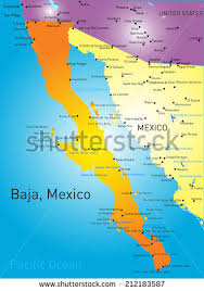 map of mexico and california baja california stock images royalty free images vectors