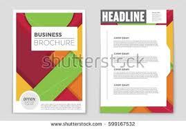 vector flyers templates brochures a4 size stock vector 243529603