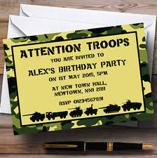 army invitations cards u0026 stationery ebay