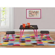 ameriwood home hazel kid u0027s table and chairs set espresso
