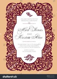 pattern wedding invitation exquisite lace stock vector 257459560