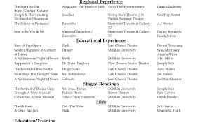 theatre resume resume beginners acting resume exle cv resume sle beginner