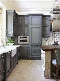 kitchen grey floors white cabinets cream kitchen cabinets