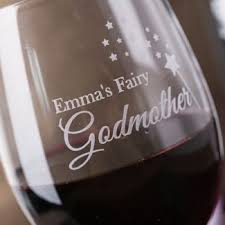 Godmother Wine Glass Gifts For Godparents Gettingpersonal Co Uk