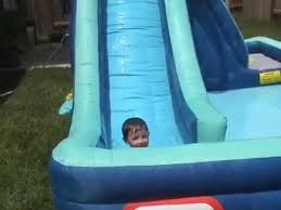 Water Slide Backyard by Backyard Water Slide Youtube