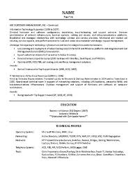 Server Job Description Resume Sample by It Supervisor Resume Example