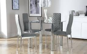 chrome dining room sets chrome dining table and chairs extended glass top modern dining