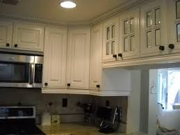 white kitchen cabinet with dentil crown molding and 4 lite glass