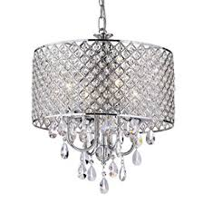 4 Light Ceiling Fixture Edvivi Epg801ch Chrome Finish Drum Shade 4 Light