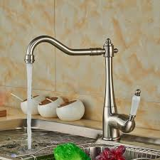 wholesale and retail promotion long spout brushed nickel kitchen