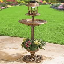 wilson and fisher solar lights solar bird bath decor garden brylanehome gardening