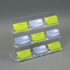 acrylic slant back countertop business card holder 9 pockets