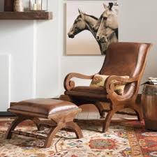 augusto chair and ottoman nailhead trim ottomans and teak